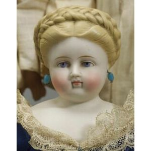 Early Molded Hair Lady with Braided Coronet