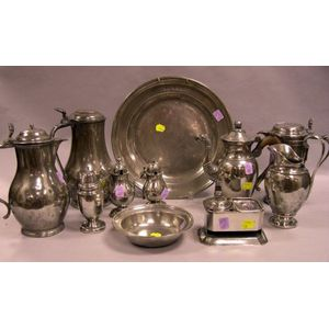 Eleven Pieces of Assorted Pewter Hollowware