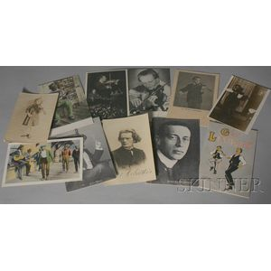 Forty-four Collectible Vintage Music Postcards