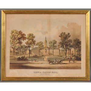 George Thompson, publisher (New York, 19th Century)      VIEW OF NASSAU HALL, PRINCETON, N.J.