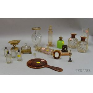 Miscellaneous Group of Dresser Articles and Glassware
