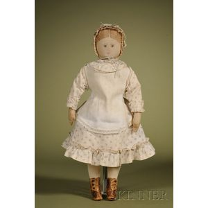 Moravian Cloth Doll by Polly Heckewelder