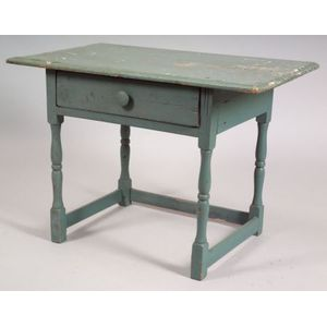 Painted Pine Stretcher-Based Table