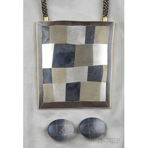 Modernist Married Metal Pendant, Deborah Krupenia