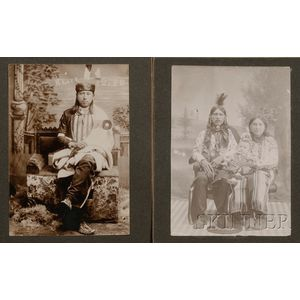 Two Photographs of Osage Indians