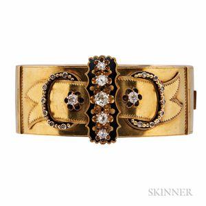 Antique Gold and Diamond Bracelet