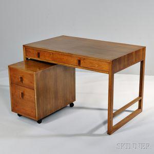 Dunbar Desk and Filing Cabinet