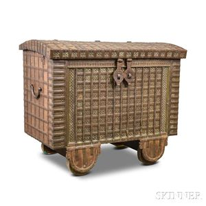 Indian Hardwood Valuables Chest