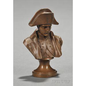 Hans Muller (Austrian, 1873-1937)      Miniature Bronze Bust of Napoleon