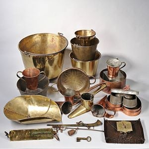 Collection of Kitchen Copper and Brass Wares