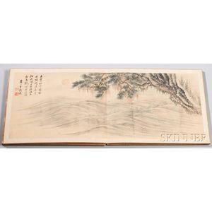 Album of Twelve Landscape Paintings