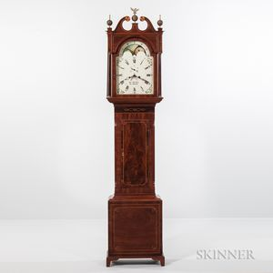 Scottish Inlaid Mahogany Longcase Clock