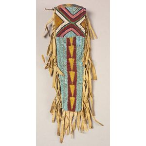 Northern Plains Beaded Hide Knife Sheath