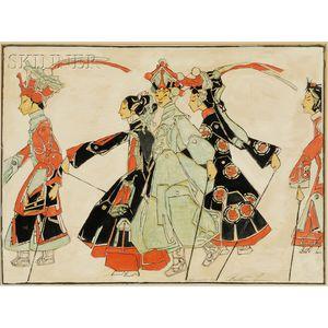 Bertha Boynton Lum (American, 1869-1954)      Promenade of the Marionettes