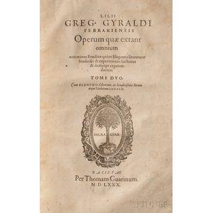 Giraldi, Lilio Gregorio (1479-1552) Operum Quae Extant Omnium