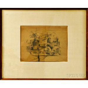 Henry McFee (American, 1886-1953)      Cubist Village