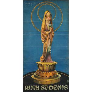 American School, 20th Century      Poster: Ruth St. Denis   as Kuan Yin