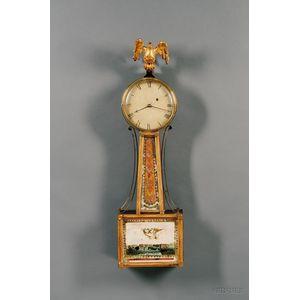 "Mahogany Patent Timepiece or ""Banjo"" Clock by Aaron Willard, Jr."