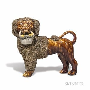 Bennington Pottery Poodle with Basket