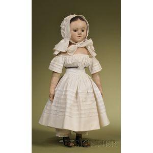 Izannah Walker Painted Cloth Child