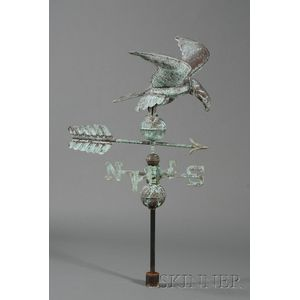 Molded Copper and Cast Bronze Eagle Weather Vane