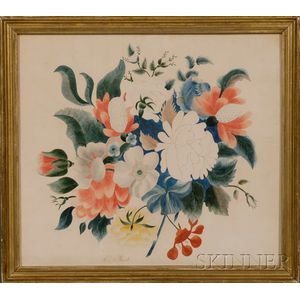 Framed Theorem Depicting a Bouquet Flowers