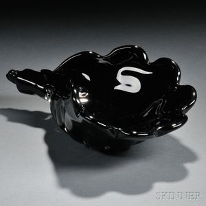 Murano Art Glass Shell-form Centerpiece