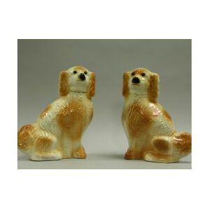 Pair of Staffordshire Spaniels.