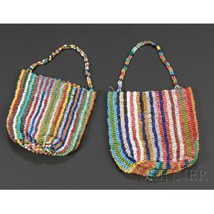 Two Plains Finger-woven Beaded Bags