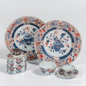 Six Imari Palette Export Porcelain Table Items