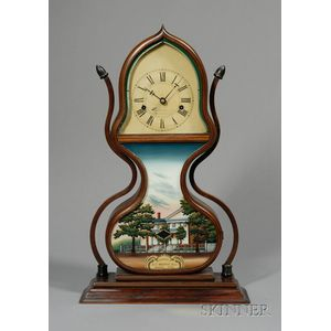 Mahogany Acorn Clock by Forestville Manufacturing Company