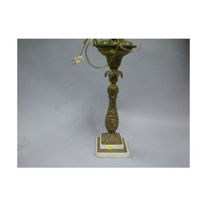 Gilt Bronze and Marble George Washington Table Lamp.