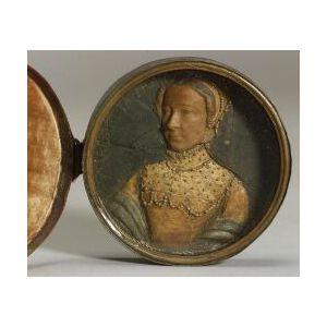 Continental Renaissance Wax Portrait Miniature