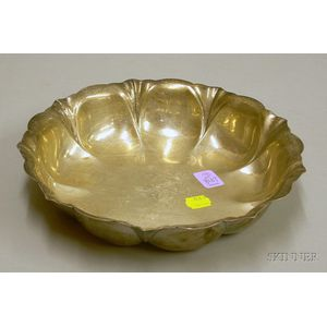 Silver Plated Fluted Fruit Bowl