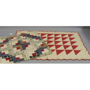 Two Small 19th Century Pieced Cotton Crib Quilts