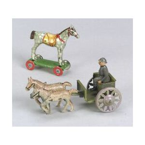 Two German Tinplate Penny Toys