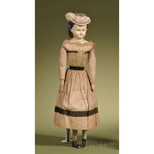 Holze-Masse Composition Lady with Molded Hat