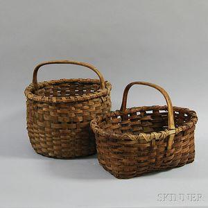 Two Woven Splint Baskets