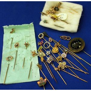 Collection of Stickpins.