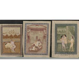 Sixteen Miniature Paintings