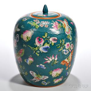 Enameled Lidded Jar