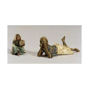 Two Viennese Cold Painted Bronze Figures of Arabian Children