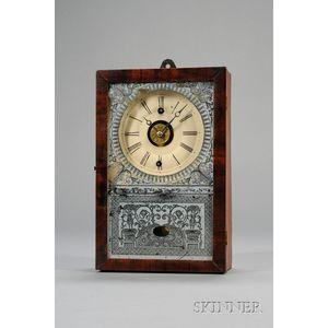 Mahogany Cottage Clock by the New England Clock Company