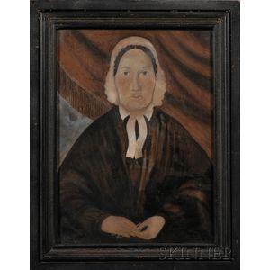 American School, Mid-19th Century       Two Portraits of Ladies.