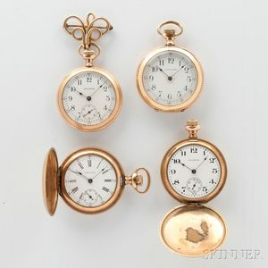 Four Waltham Gold-filled Ladies Watches