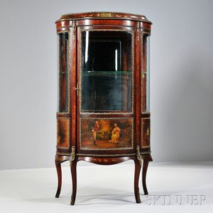 Rococo-style Vernis Martin and Gilt-bronze Display Cabinet