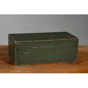 Paint-decorated Pine Storage Box
