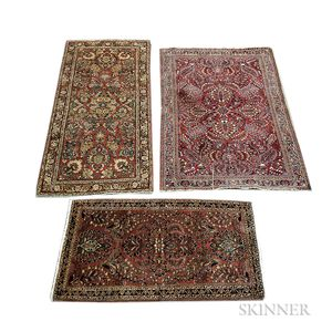 Three Sarouk Rugs