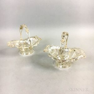Pair of Sterling Silver Reticulated Fruit Baskets