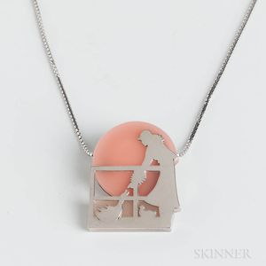 Plenderleiths Sterling Silver and Hardstone Necklace